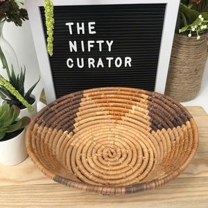 Small Coiled Basket with Star Design